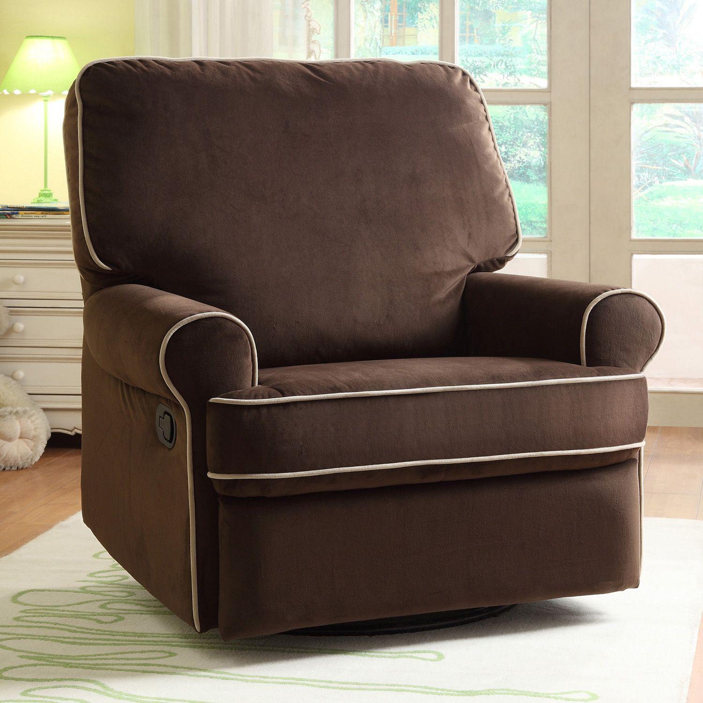 pulaski birch hill stella swivel glider recliner chair