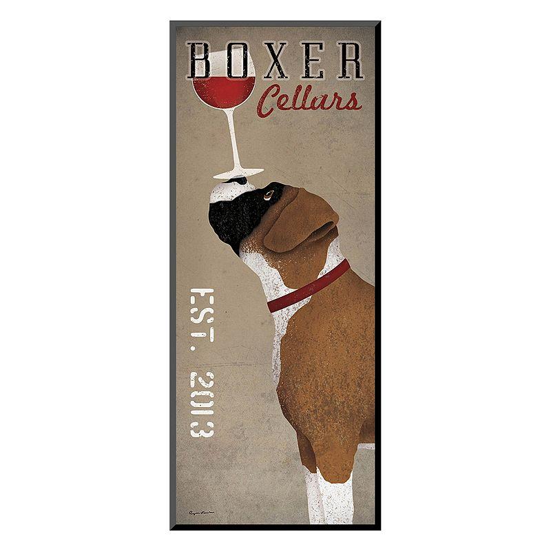 """Art.com """"Boxer Cellars"""" Wine Wall Art, Brown"""