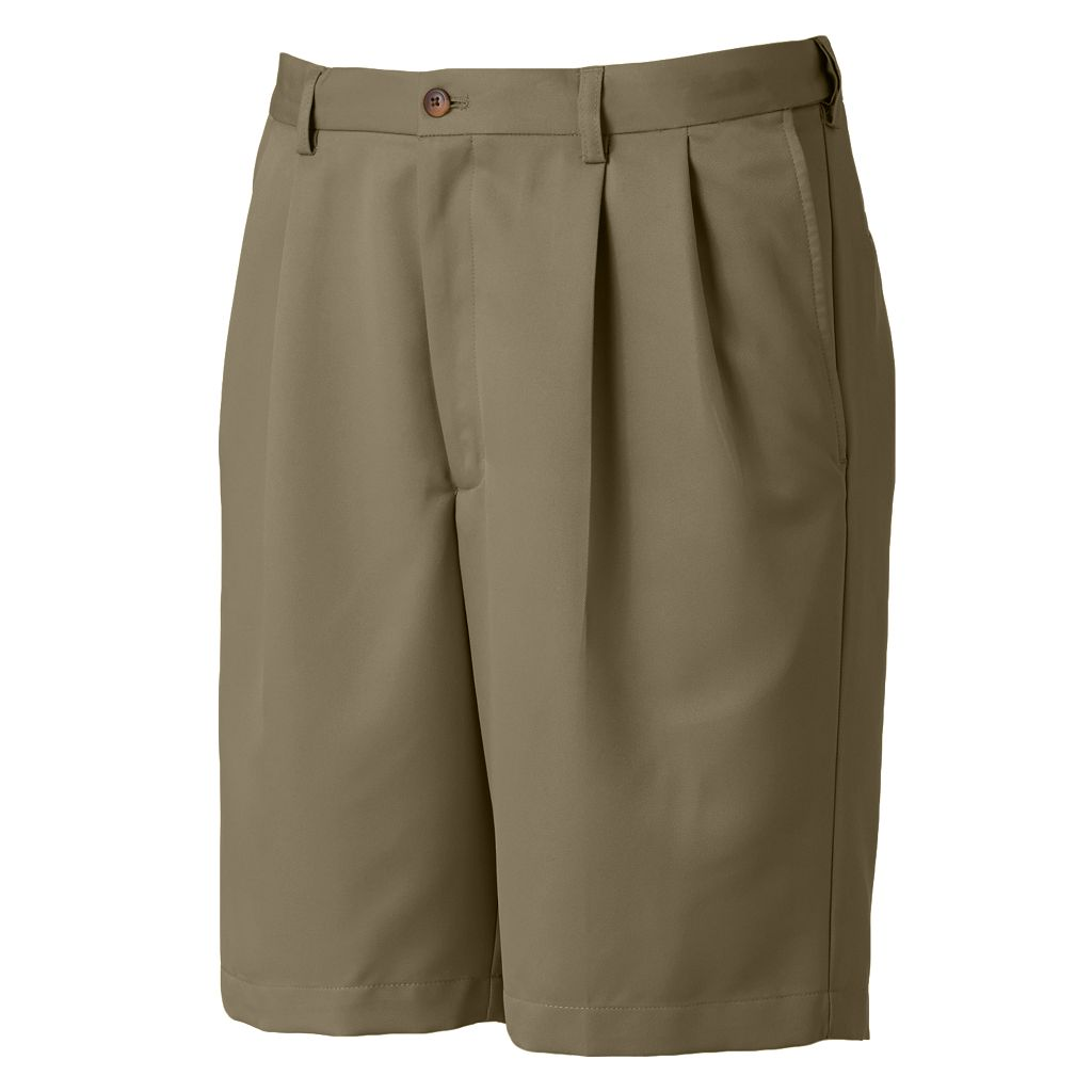 Haggar® Cool 18® Pleated Microfiber Shorts - Men