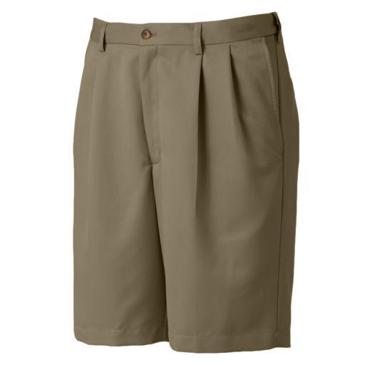 Haggar Cool 18 Pleated Microfiber Shorts - Men