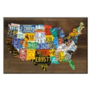 Art.com ''USA Map II'' Wall Art