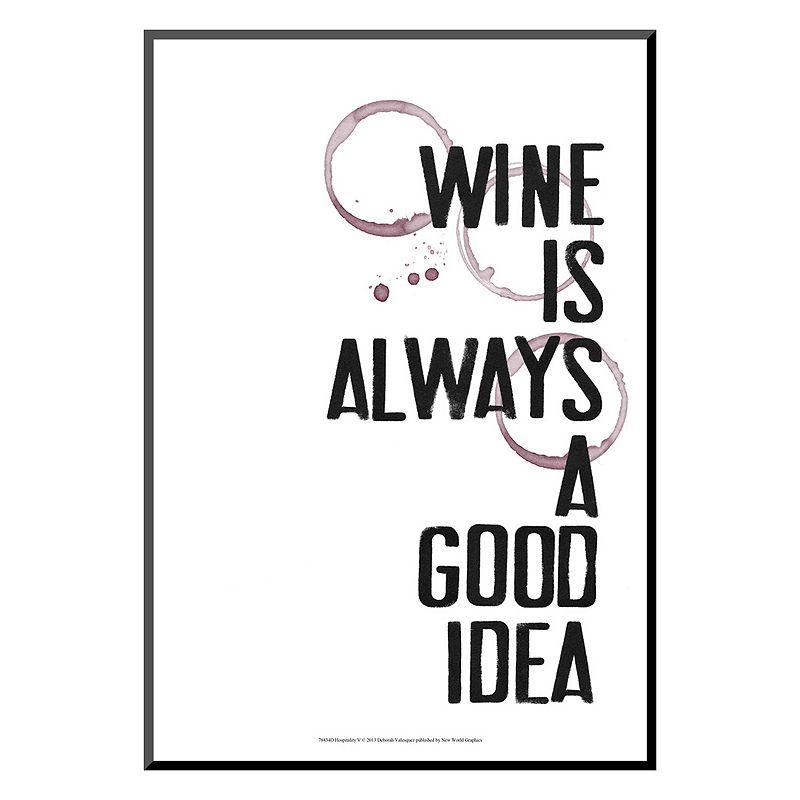 "Art.com ""Hospitality V"" Wine Wall Art, White"