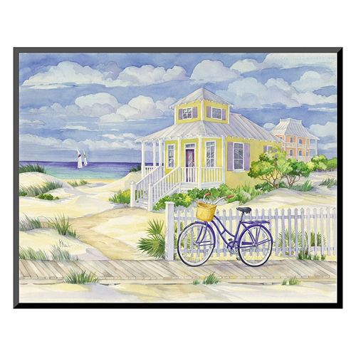 """Art.com """"Beach Cruiser Cottage II"""" Wall Art"""