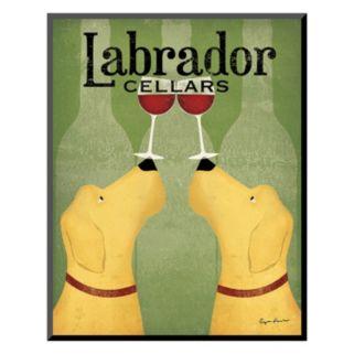 Art.com ''Two Labrador Wine Dogs'' Wall Art