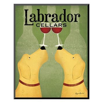 Art.com ''Two Labrador Wine Dogs'' Wall Art