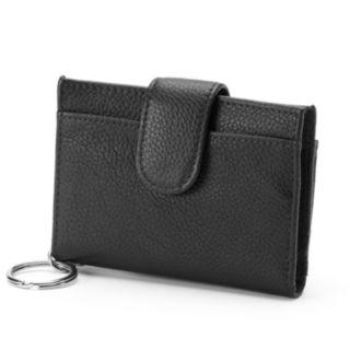 Buxton Hudson Pik-Me-Up Leather Tab Card Case