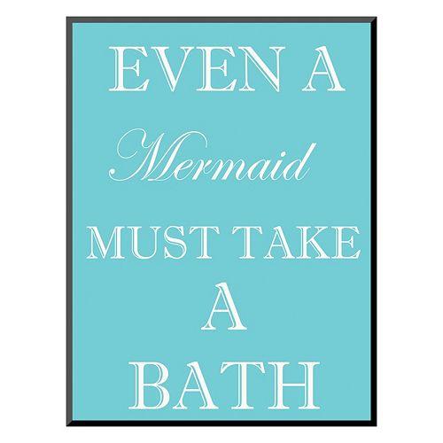 Art.com ''Mermaid Must Bathe'' Wall Art