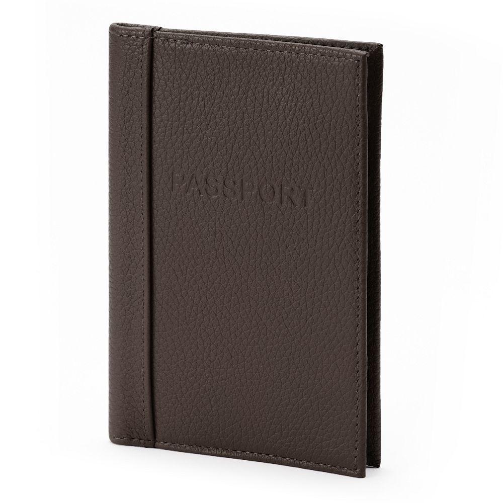 Buxton Hudson Pik-Me-Up Leather Passport Cover