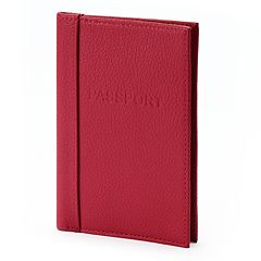 Buxton Hudson Pik-Me-Up Leather Passport Cover