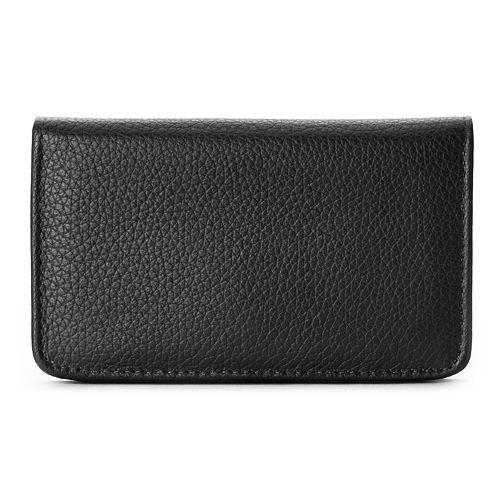 Buxton Hudson Pik-Me-Up Leather Snap Card Case