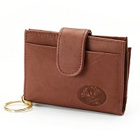 Buxton Heiress Pik-Me-Up Floral Embossed Leather Tab Card Case