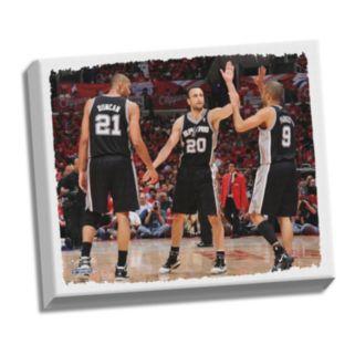 "Steiner Sports San Antonio Spurs Tony Parker ""Big Three High Five"" 32"" x 40"" Stretched Canvas"
