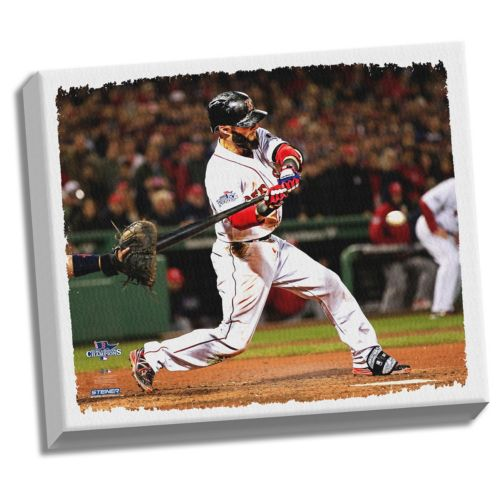 """Steiner Sports Boston Red Sox Dustin Pedroia 32"""" x 40"""" Stretched Canvas"""