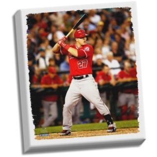 """Steiner Sports Los Angeles Angels of Anaheim Mike Trout 32"""" x 40"""" Stretched Canvas"""