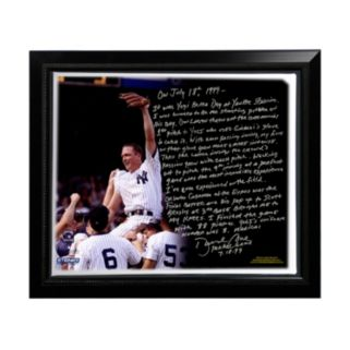 """Steiner Sports New York Yankees David Cone Yogi Berra Day Perfect Game Facsimile 22"""" x 26"""" Framed Stretched Story Canvas"""