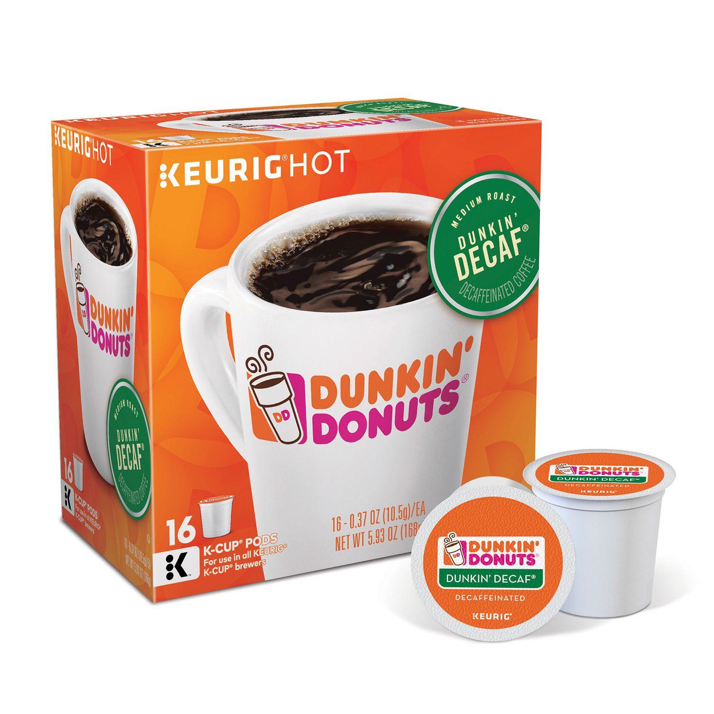 keurig kcup portion pack dunkinu0027 donuts dunkinu0027 decaf coffee 16pk - Keurig K Cup