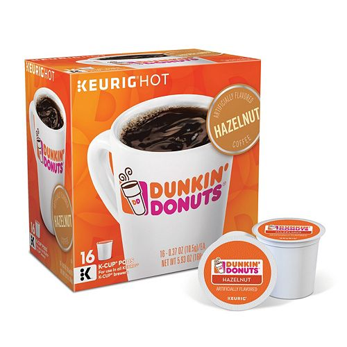 Dunkin' Donuts Hazelnut Coffee, Keurig® K-Cup® Pods, Flavored Coffee - 16-pk.