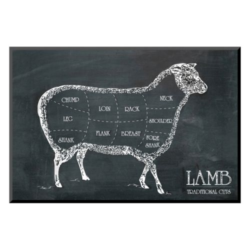 "Art.com ""Butcher's Guide I"" Lamb Wall Art"
