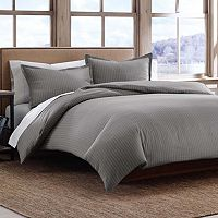 Eddie Bauer Pinstripe 3 pc Duvet Cover Set - Full/Queen