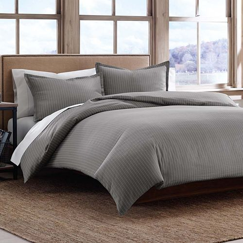 Eddie Bauer Pinstripe 3-pc. Duvet Cover Set - King