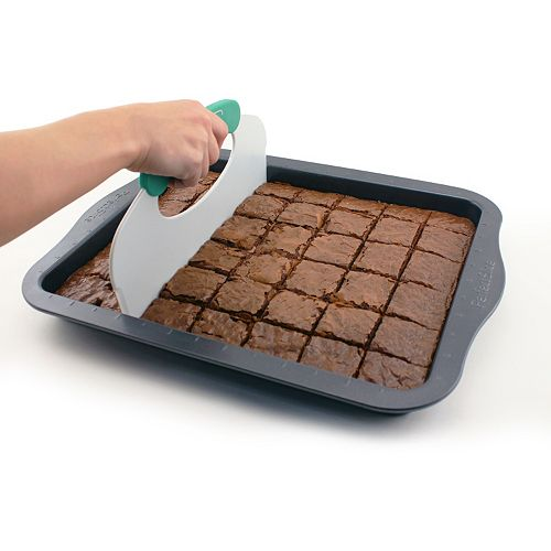 "BergHOFF 2-pc. Perfect Slice 11"" x 14"" Nonstick Cookie Sheet & Cutting Tool Set"