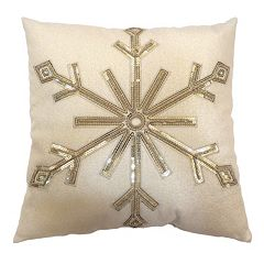 St. Nicholas Square® Sequin Snowflake Throw Pillow