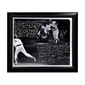 "Steiner Sports Boston Red Sox Bucky Dent and Mike Torrez 1978 Walk-Off Home Run Facsimile 22"" x 26"" Framed Stretched Story Canvas"