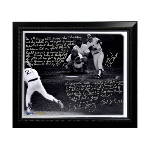 Steiner Sports Boston Red Sox Bucky Dent and Mike Torrez 1978 Walk-Off Home Run Facsimile 22 x 26 ...
