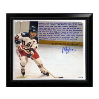 "Steiner Sports USA Hockey Mike Eruzione Miracle Facsimile 22"" x 26"" Framed Stretched Story Canvas"