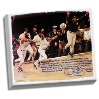 """Steiner Sports New York Yankees Cecil Fielder 1996 World Series Facsimile 22"""" x 26"""" Framed Stretched Story Canvas"""