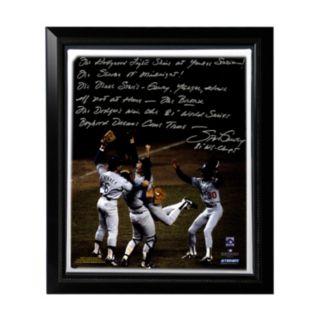 "Steiner Sports Los Angeles Dodgers Steve Garvey 1981 World Series Celebration Facsimile 22"" x 26"" Framed Stretched Story Canvas"