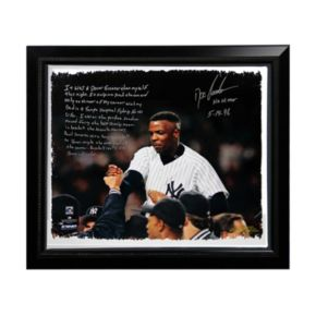 """Steiner Sports New York Yankees Doc Gooden No-Hitter Facsimile 22"""" x 26"""" Framed Stretched Story Canvas"""