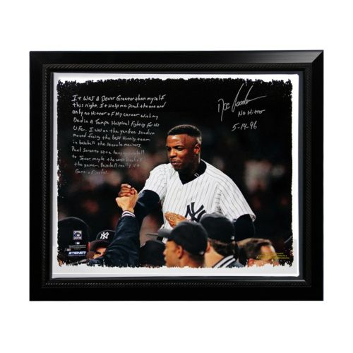 Steiner Sports New York Yankees Doc Gooden No-Hitter Facsimile 22″ x 26″ Framed Stretched Story Canvas