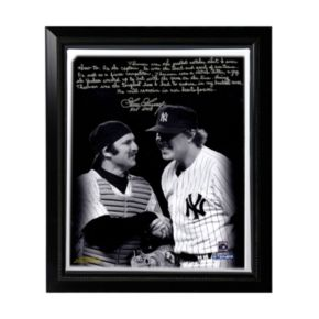 """Steiner Sports New York Yankees Goose Gossage on Thurman Munson Facsimile 22"""" x 26"""" Framed Stretched Story Canvas"""