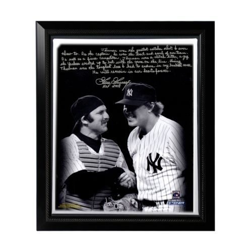 Steiner Sports New York Yankees Goose Gossage on Thurman Munson Facsimile 22 x 26 Framed Stretched...