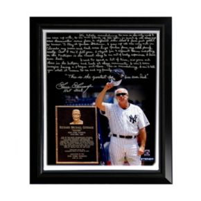 "Steiner Sports New York Yankees Goose Gossage Goose Gossage Day Facsimile 22"" x 26"" Framed Stretched Story Canvas"