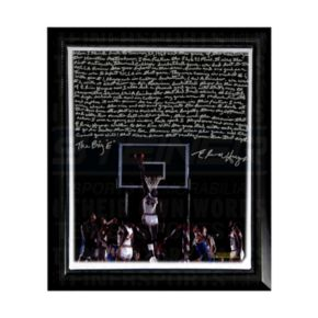 """Steiner Sports Houston Cougars Elvin Hayes Being Big E Facsimile 22"""" x 26"""" Framed Stretched Story Canvas"""