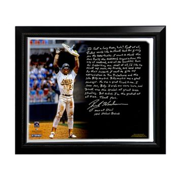 Steiner Sports Oakland Athletics Rickey Henderson Stolen Base Record Facsimile 22