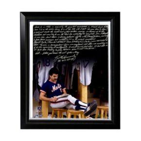 "Steiner Sports New York Mets Keith Hernandez 1986 Buckner Game Facsimile 22"" x 26"" Framed Stretched Story Canvas"