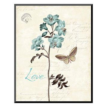 Art.com ''Slated Blue I'' Love Wall Art