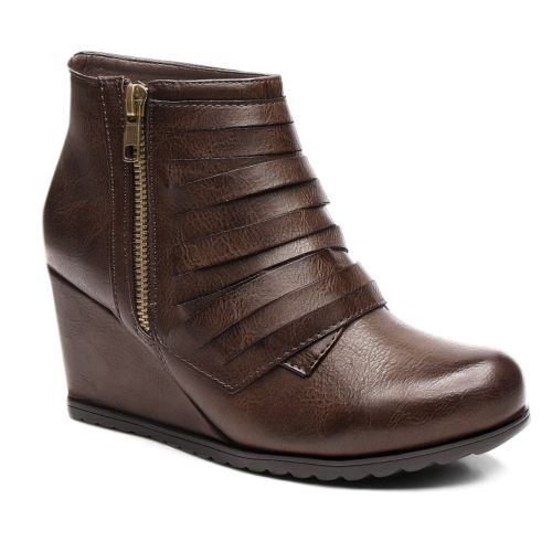Kisses by 2 Lips Too Too Neve Women's Wedge Ankle Booties