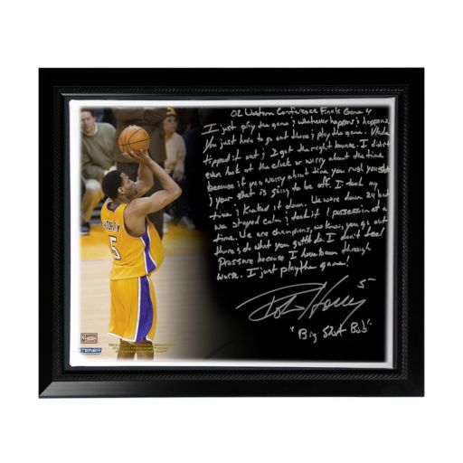 """Steiner Sports Los Angeles Lakers Robert Horry Big Shot Rob Facsimile 22"""" x 26"""" Framed Stretched Story Canvas"""
