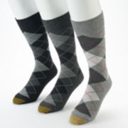 Men's GOLDTOE 3-pack Carlyle Argyle Crew Socks
