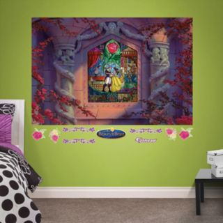 Disney's Beauty & the Beast Stained Glass Mural Wall Decal by Fathead