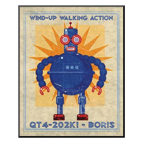 "Art.com ""Boris Box Art Robot"" Wall Art"