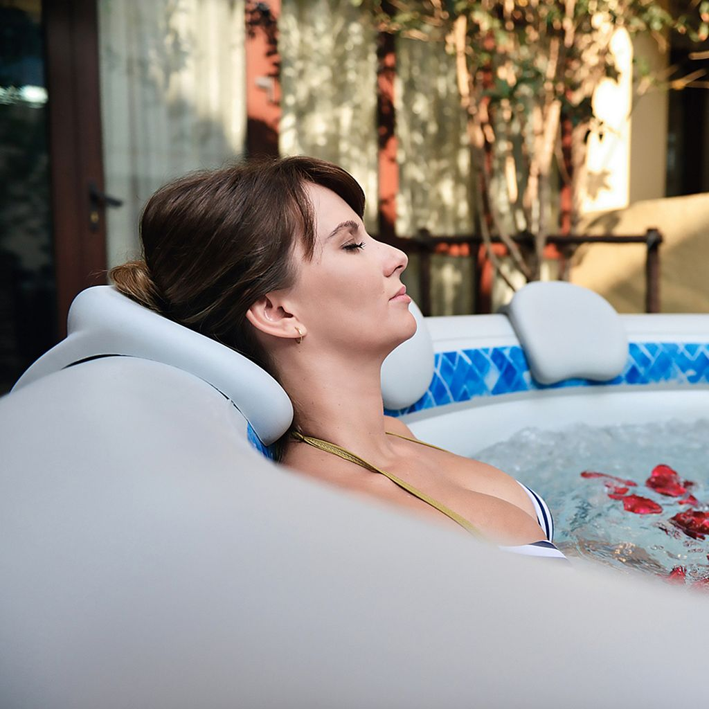 Radiant Inflatable Spa Headrests & Cup Holder