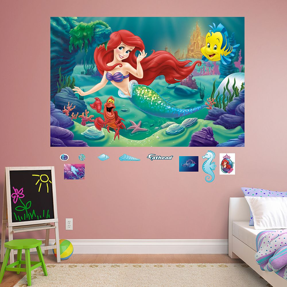 The little mermaid mural wall decal by fathead disneys the little mermaid mural wall decal by fathead amipublicfo Images