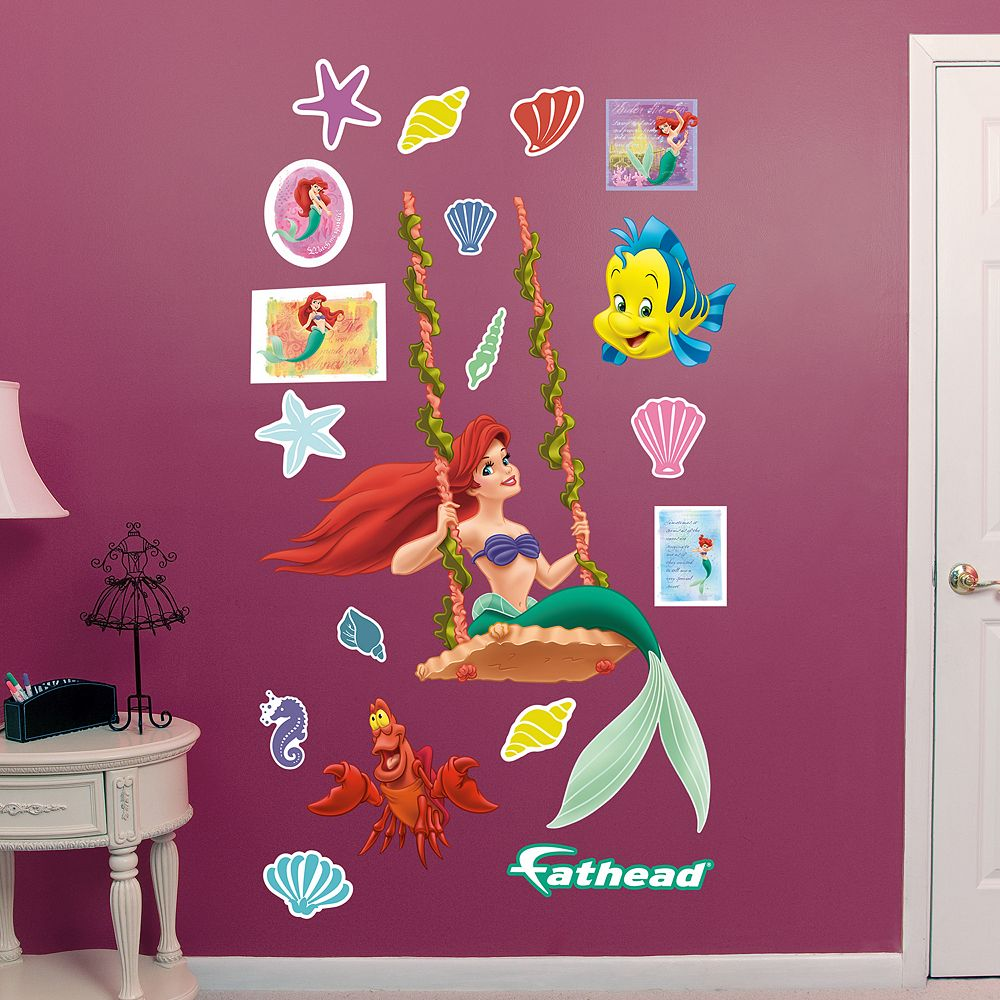 The little mermaid swinging ariel wall decal by fathead disneys the little mermaid swinging ariel wall decal by fathead amipublicfo Images