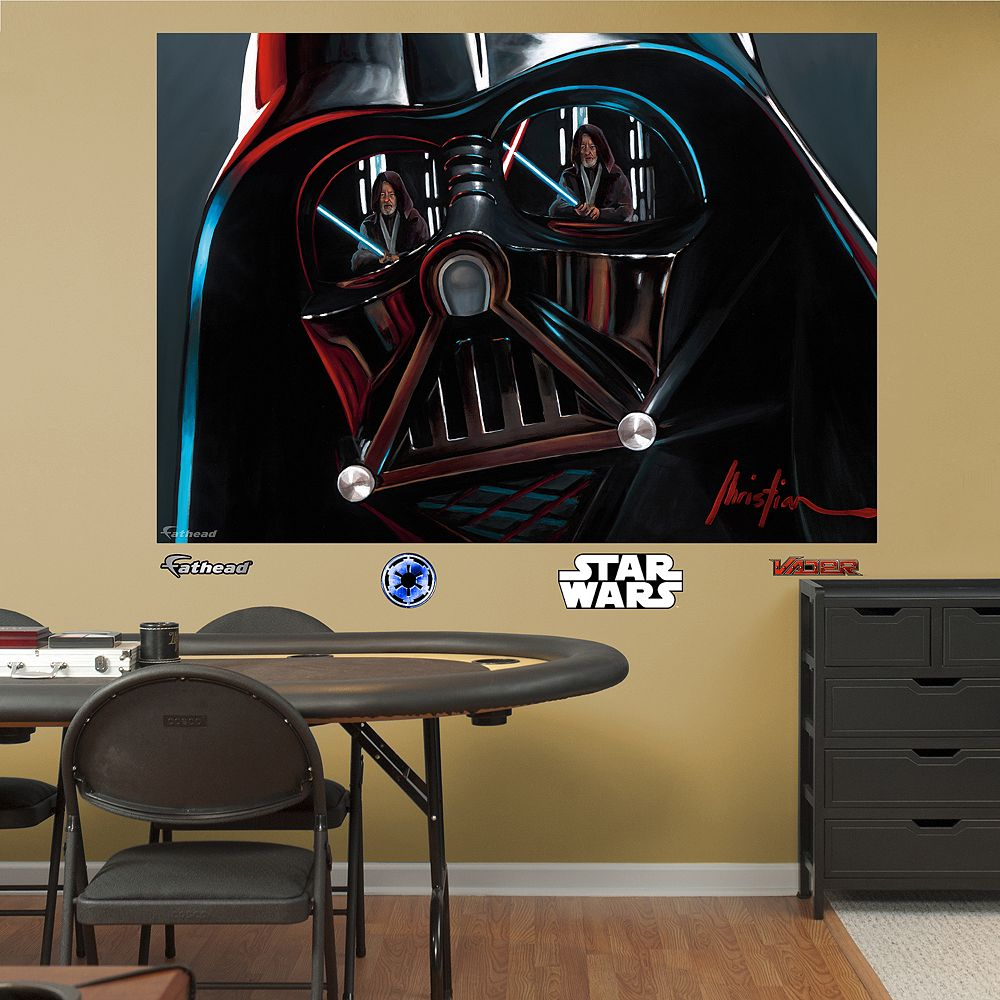 Wars darth vader helmet mural wall decal by fathead star wars darth vader helmet mural wall decal by fathead amipublicfo Gallery