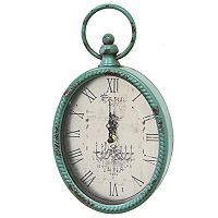 Stratton Home Decor Distressed Vintage Wall Clock